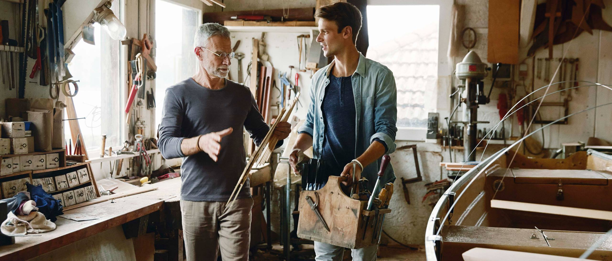 2 men in workshop